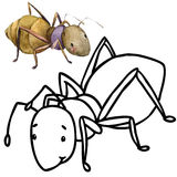Coloring book funny Cartoon insect. Royalty Free Stock Photography