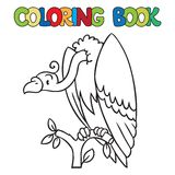 Coloring book of funny vulture Royalty Free Stock Photo