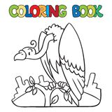 Coloring book of funny vulture Royalty Free Stock Photography