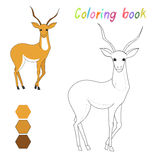 Coloring book gazelle kids layout for game Stock Photos