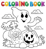 Coloring book ghost subject Royalty Free Stock Photography