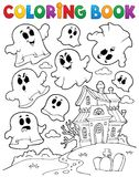 Coloring book ghost theme 2 Royalty Free Stock Photography