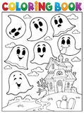Coloring book ghost theme 4 Royalty Free Stock Image