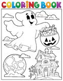 Coloring book ghost theme 5 Royalty Free Stock Photo