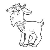 Coloring book (goat) Royalty Free Stock Images