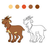 Coloring book (goat) Stock Photo