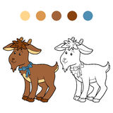 Coloring book (goat) Royalty Free Stock Photos