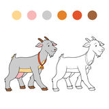Coloring book (goat mother) Royalty Free Stock Images