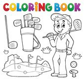 Coloring book with golf theme. Eps10 vector illustration Royalty Free Stock Images