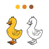 Coloring book (goose, chick) Royalty Free Stock Photography
