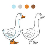 Coloring book (goose) Stock Photography