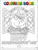 Coloring book Grandparents' Day Royalty Free Stock Photos