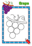 Coloring book, grape Stock Images