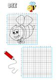 Coloring book - grate 2. Illustration of a page to be color for children. The grate also points out the traces to draw the element Stock Photography