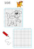 Coloring book - grate 3. Illustration of a page to be color for children. The grate also points out the traces to draw the element Stock Photography