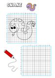 Coloring book - grate 6. Illustration of a page to be color for children. The grate also points out the traces to draw the element Stock Photo