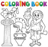 Coloring book Greek theme 1 Royalty Free Stock Images
