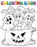 Coloring book Halloween character 5 royalty free illustration