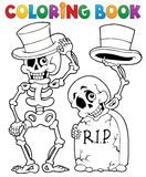 Coloring book Halloween character 6 vector illustration