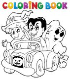 Coloring book Halloween character 8 Stock Images
