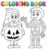 Coloring book Halloween costumes theme 1. Eps10 vector illustration stock illustration