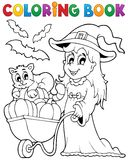 Coloring book Halloween image 2 Royalty Free Stock Photo