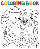 Coloring book Halloween owl 1 Stock Photography