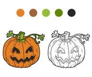 Coloring book: Halloween pumpkin Stock Photo