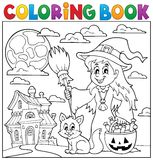 Coloring book Halloween thematics 1 Royalty Free Stock Images