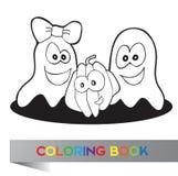 Coloring book Halloween stock illustration