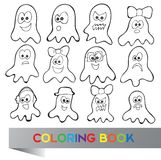 Coloring book Halloween Royalty Free Stock Photos