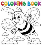 Coloring book happy bee theme 1 Stock Photography