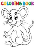 Coloring book happy mouse royalty free illustration