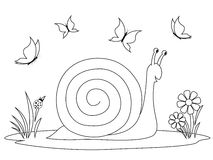 Coloring book - happy snail Stock Photography