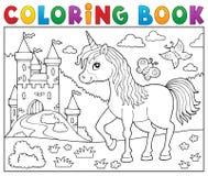 Coloring book happy unicorn topic 2