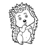 Coloring book, Hedgehog Stock Photography