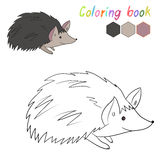 Coloring book hedgehog kids layout for game Royalty Free Stock Images