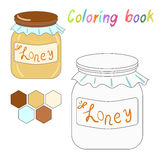Coloring book honey kids layout for game Royalty Free Stock Images