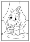 Coloring book, Horse Stock Image