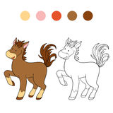 Coloring book (horse) Royalty Free Stock Images