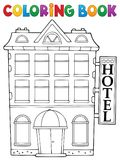 Coloring book hotel theme 1 Royalty Free Stock Photos