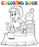 Coloring book with housewife 1 Stock Image