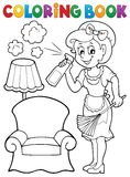 Coloring book with housewife 2 Stock Photos