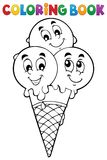 Coloring book ice cream 1. Eps10 vector illustration Stock Image