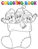 Coloring book image Christmas 1 Royalty Free Stock Photo