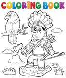 Coloring book Indian theme image 2 Royalty Free Stock Photography