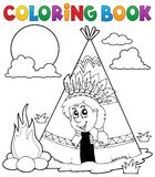 Coloring book Indian theme image 3 royalty free illustration