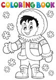 Coloring book Inuit thematics 1 Stock Photo