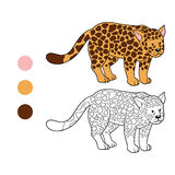 Coloring book (jaguar) Royalty Free Stock Photos
