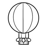 Coloring book for kids, Balloon. Coloring book for children, Balloon stock illustration